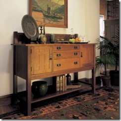 Aparador de Stickley, do Arts & Crafts