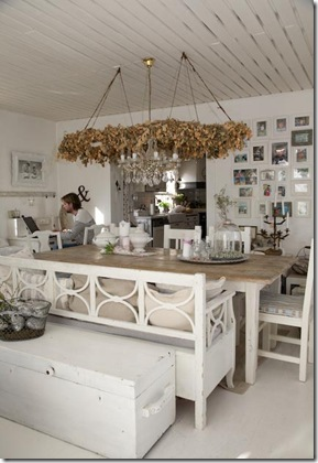Branco do Shabby Chic com aconchego
