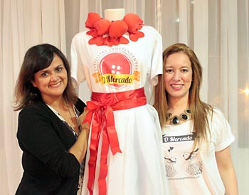 Je Muniz e Clarissa Muniz, produtoras do bazar O Mercado