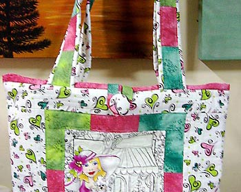 Bolsa em tecido com a tcnica do patchwork, passo-a-passo