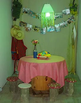 Cantinho especialmente decorado para festa junina