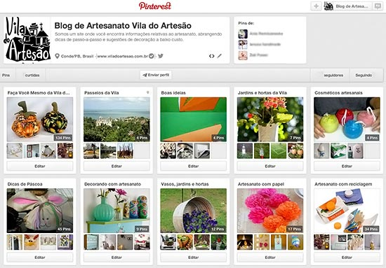 Vila do Artesão no Pinterest